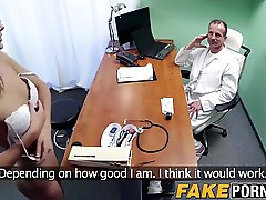 Cock sucking Ivana rides big dick after blowing doctors cock