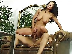 Fabulous hairy Italian brunette goes anal