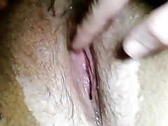 Close up of my gooey wet pussy gushing
