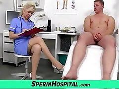 Stockings legs milf doctor Maya cum on tits
