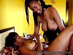 African hottie puts some oil on gfs body