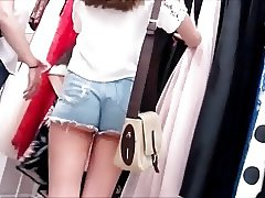 SPYING ON 2 VERY PRETTY TEENS asses in short shorts