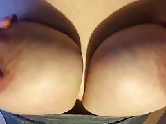 Letting my tits fall from my bra