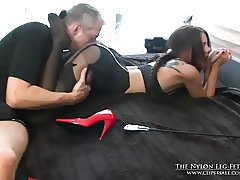 Loreen spanked on bed