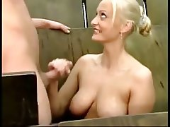 awesome handjob cumshot