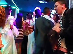 Sexy brides dancing and fucking