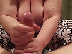 Oil Handjob and Cumshot