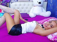 girl tease in bed in hot maid outfit