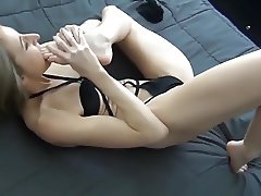 Sasha self worship on bed