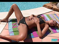 Hot Poolside Action