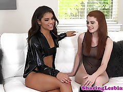 Ginger lesbian rimming and pussylicking babe