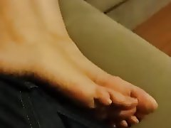 Cute Gf's hot feets, long toes and soles