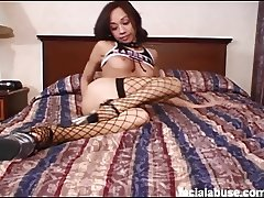 Rough face fucking and double penetration for Julea London