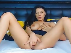 Beautiful Babe Fucks Her Pussy With Her Toy Dildo