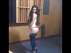 Sexy Latina Shows Ass