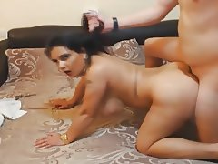 Brunette Babe Gets Fucked and Eats Cum