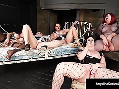 Angelina Castro & 4 Curvy BBW's Masturbate Their Pussies!