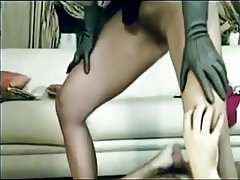 Hairy Milf pee on cock