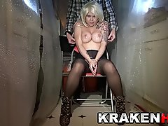 Krakenhot - Homemade BDSM casting with a hot blonde milf