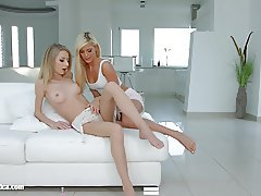 Lesbian scene with Goldi and Candee Licious by Sapphic