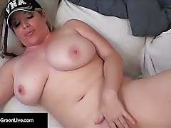 Busty Maggie Green Gets A Break Moving & Finger Fucks Pussy!