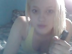 Sexy Blonde Dirty Talk And Bate