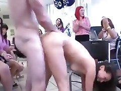 Skinny ass chink slut gets fucked in front of coworkers 2
