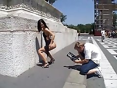 Angelina and public sex in Budapest
