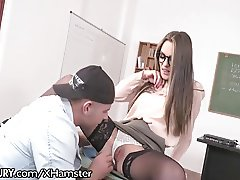 Hot Russian Teacher Assfucked by Student