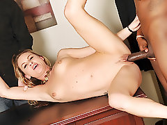 Amanda Blow takes black dick in front of her husband