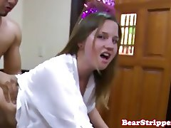 Real amateur babe railed doggystyle at party
