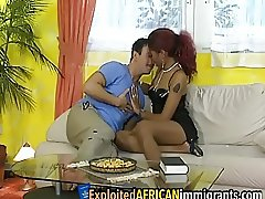 Interracial bang with redhead ebony