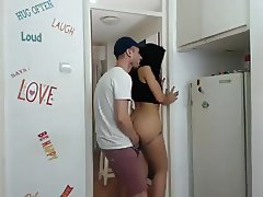 sarah nice whore fucked on open door
