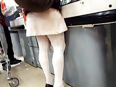 Candid hot hosed legs and heels