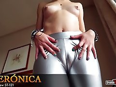 Sofia's super cameltoe in shiny pants