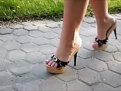 Walking In Platform High Heels
