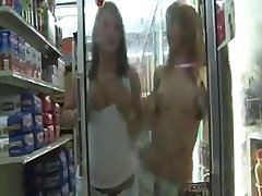Teens Mooning And Flashing In Store