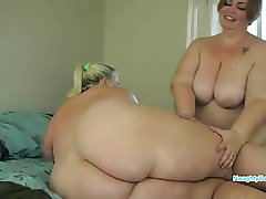 Two big beautiful fat ass lesbians