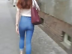 Hot Teen Ass in Tight Jeans