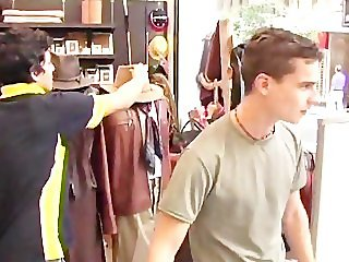 Two hot guys fuck after shopping