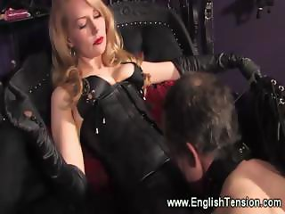 Domina feeds her sub her cigarette smoke