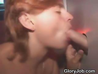 Red Headed Amateur Blowjob And Facial At Glory Hole