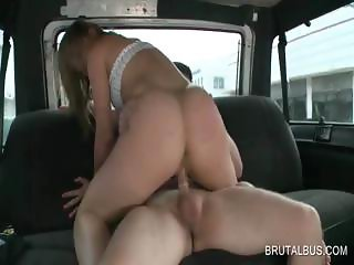 Excited babe gets fucked doggie