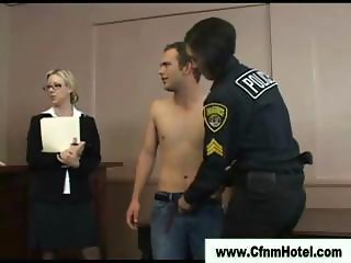 Cfnm femdom bitches facesitting humiliated victim