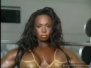Scary muscular black female
