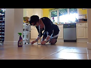 Maid to scrub the kitchen floor