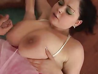 Young Brunette - Beautiful Big Natural Breasts
