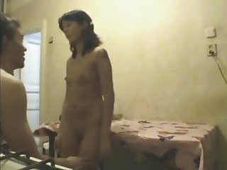 Amateur Skinny Chick Fucked On Kitchen Table