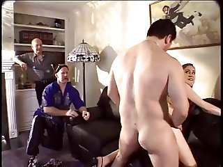 Husband watches wife suck another man's Dick