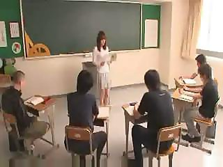 Azusa Nagasawa teaches and gets made to do some sucking and fucking